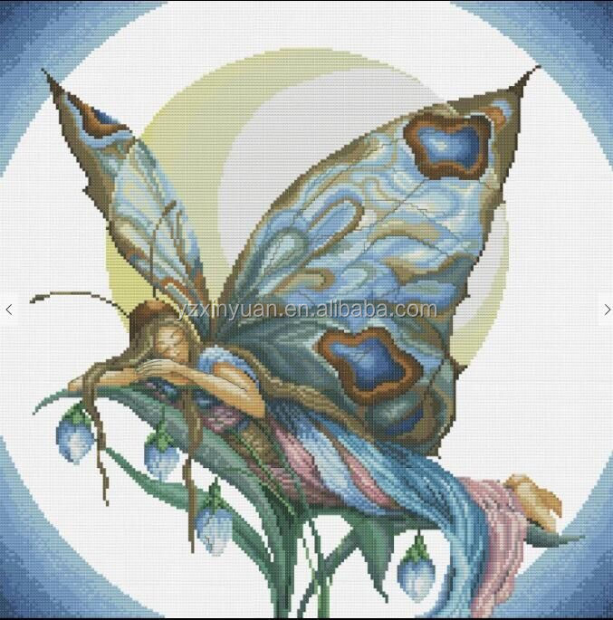 Beautiful Fairy <strong>01</strong> Counted Cross Stitch 14CT DMC Cross Stitch Sets DIY Cross Stitch Kits for Embroidery Home Decor Needlework