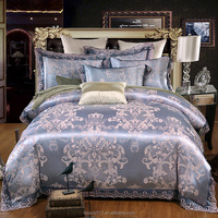 Satin satin Jacquard Modal cotton tencel four sets Latest best sell hotel cotton bed sheets BSS08