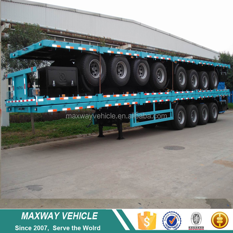 Widely used 60ton skeleton chassis container trailers