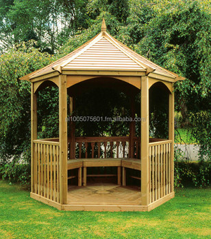 Wooden Pavilion Gazebo Brompton. Timber Canopy