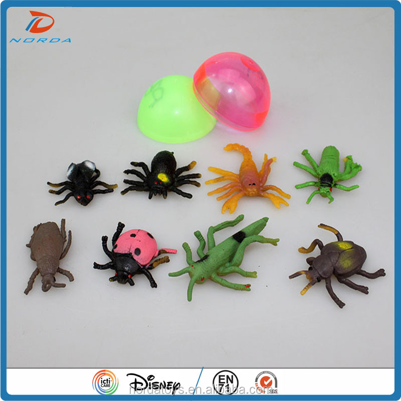 2017 vending machine empty egg capsule insect toys/toy capsule for kids
