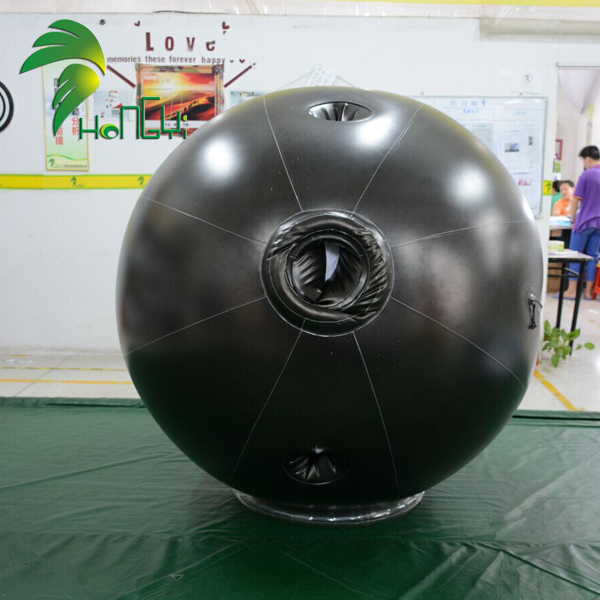 Black Durable Soft PVC Rolling Ball Suit Inflatable Toy Costume Model