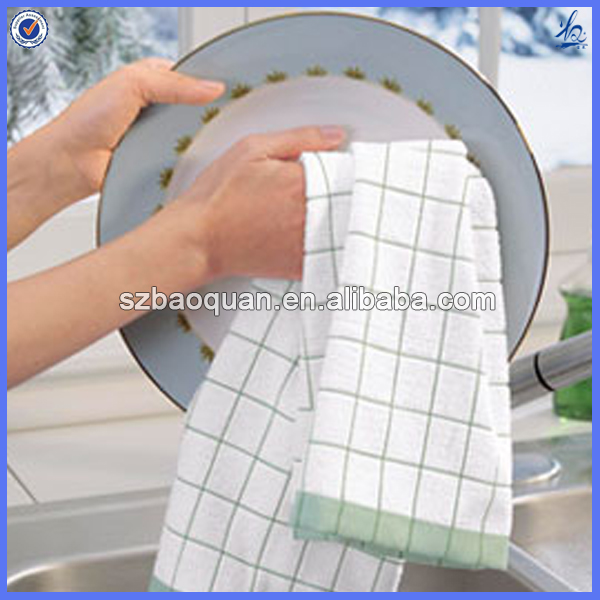 organic cotton dish towel/kitchen towel wholesale