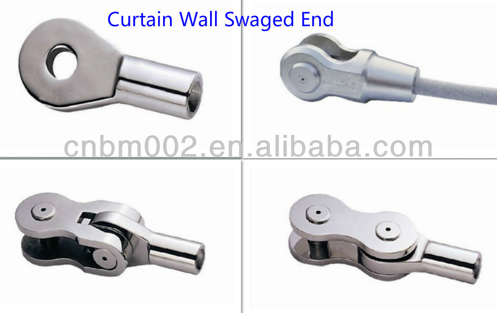 Point-Fixed Curtain Wall Stainless Steel Swaged End