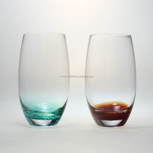 hand made color bottom high drinking glass/color change drinking glass/tumbler