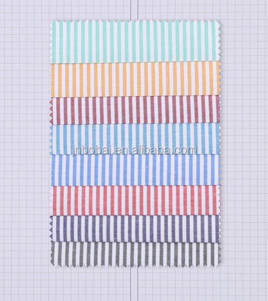 Bobai textile shirt fabric cotton candy color spot stripes fabric yarn Stripe Shirt