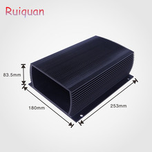 Super September 5% discount Dongguan Ruiquan Heatsink OEM Waterproof extruded aluminum enclosure made from al6063-T5