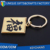 Fashion cheap custom key holder pvc keychain metal keychain