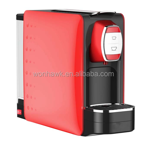 19 bar 1250W Automatic capsule coffee machine maker for Nespresso or LAVAZZA Point System
