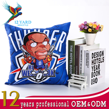 New season Basketball league popular star american team Oklahoma digital printed decorative home cushion pillow
