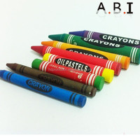 Different size kids crayons