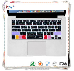Functional Keyboard Cover Final Cut Pro 7 Shortcut Design Silicone Keyboard Cover Skin For Macbook Pro, US European Version