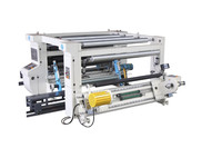 Jumbo roll plastic film paper hydraulic lift unwinding multi-Re station slitter automatic slitting machine