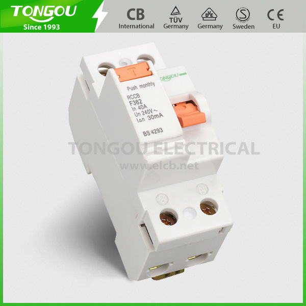 Good quality F362 F364 F360 2P 4P 30mA 100mA Earth Leakage Circuit Breaker
