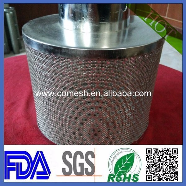 China supplier perforated stainless steel monel filter tube