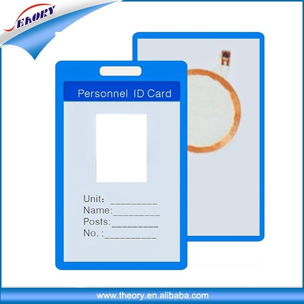 blank office employee id card time attendance punch card