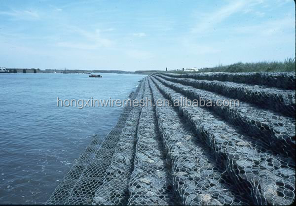 PVC Coated Gabion Box(Manufacturer),gabion box price ,heavy zinc coated gabion box (china )
