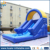 Huale professional supplier blue giant inflatable slide/ water jumping slide for water games