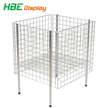 Stackable removable wire dump bin display