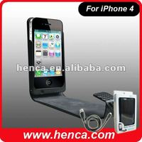 2100 MAH leather battery extender case for iphone4/4s