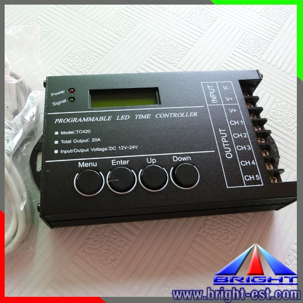 240W Advertising Programmable time led light controller tc420 DMX controller remote controller