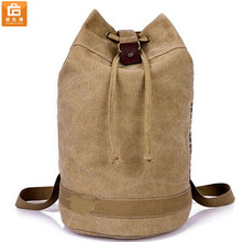 New Men's Vintage Canvas Leather Hiking Travel Military Messenger Tote Bag