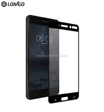 Factory good price 9h full coverage temper glass protector for Nokia 6