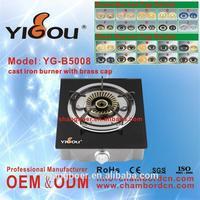 YG-B5008 gas stove valve price/ gas stove feet/ 2 burner commercial gas stove