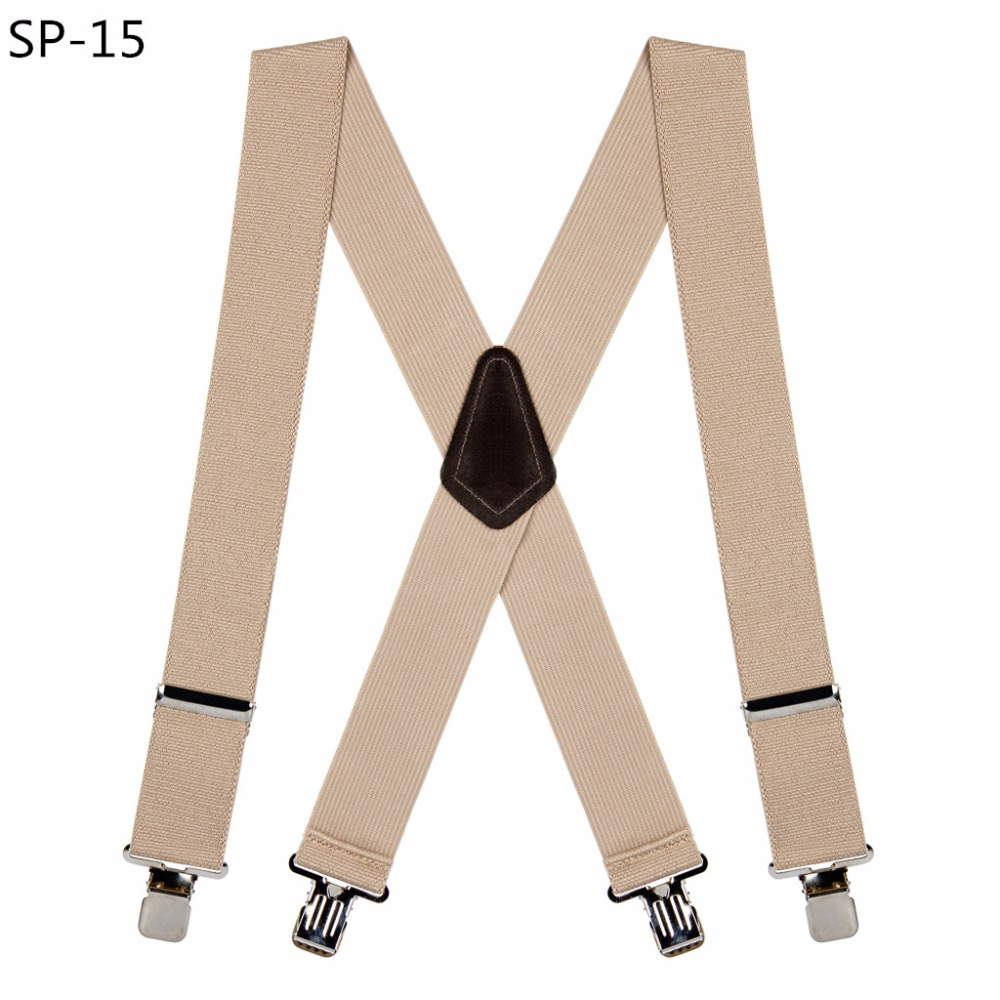 Hot Sale Classical Style Men's PU Leather Suspenders