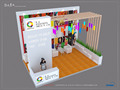 Special exhibition booth display design cheap exhibition stand from China supplier