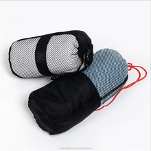 outdoor travel sport fabric roll mesh bag microfiber towel