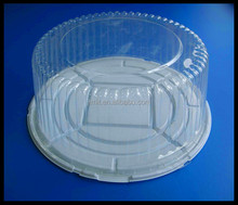 "Hot sale 14"" Plastic Dome Cake Box Packaging White Base Clear Lid For Birthday Cake"