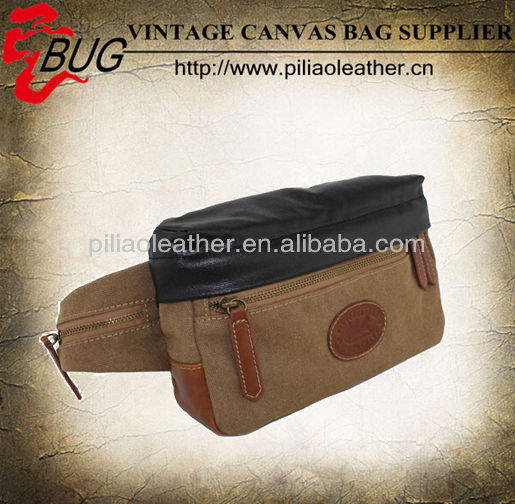 2013 Newest Coated Canvas Belt/Waist Bag/Fashionable Canvas Waist Bag For Men