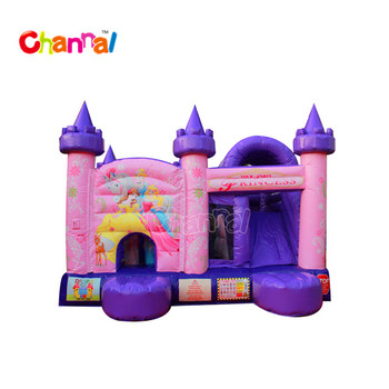 Princess themed inflatable jumping combo bouncy castle jumping castle for sale