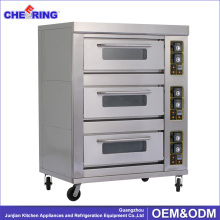Industrial free standing bakery machines gas cooker oven for bread