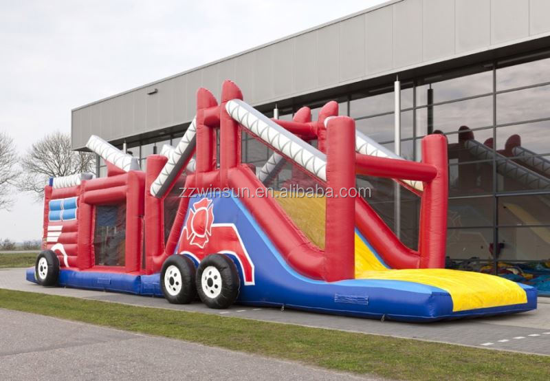 Inflatable INFLATABLE OBSTACLE RUN FIRE TRUCK