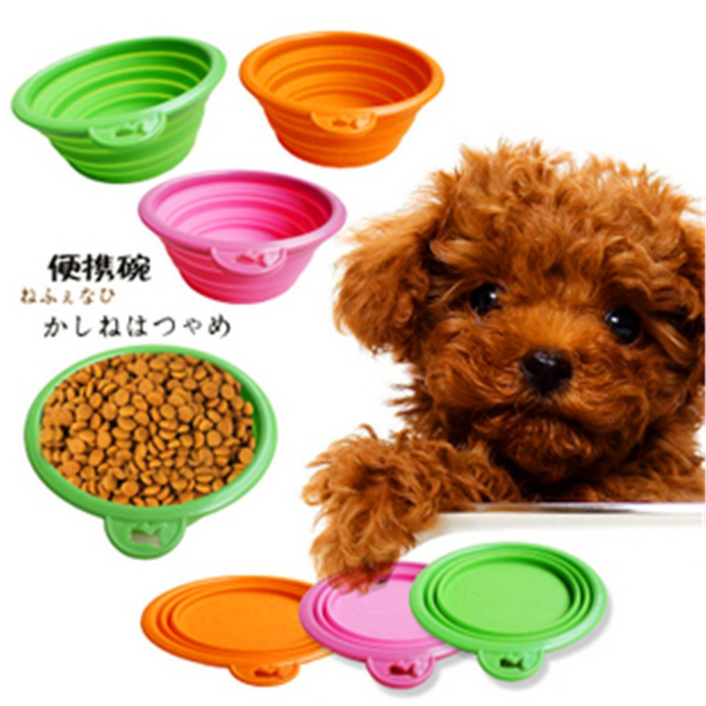 2015 New Portable and Unbreakable Collapsible Silicone pet Bowl/Silicone dog cat Bowls of Portable and Unbreakable Collapsible