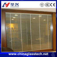Nice air impermeability water proof insulated glass sliding upvc/pvc exterior glass louver door