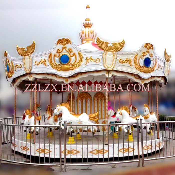 Fun park rides deluxe carousel amusement rides merry go round carousel for sale