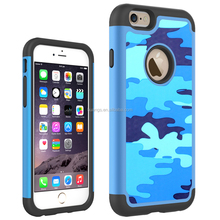 Low price china mobile phone Military Army Camouflage Woodland Hybrid Shockproof Case combo case for iphone 6 fast shipping