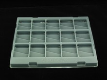 Disposable black blister packaging container pp plastic food tray