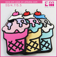 Ice Cream Design Silicone Case For iPhone 4.7 5.5/Soft Silicone Case For Cell Phone