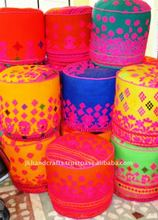 Hand Embroidered Ottoman Pouf Covers