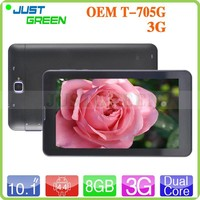 Cheapest 10.1 inch 3G Android 4.4 Tablet T-705 MT8382 1GB RAM 8GB ROM IPS 1024*600 Dual SIM Phone Call GPS OTG Dual core