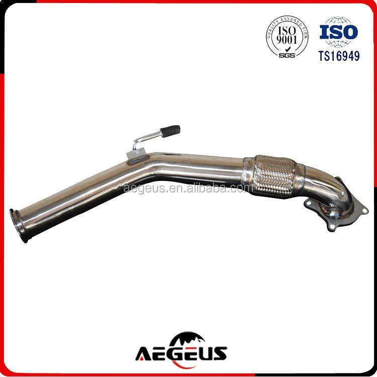 New Exhaust Downpipe 2.0T Decat Fit For VW Golf GTi Jetta Audi A3