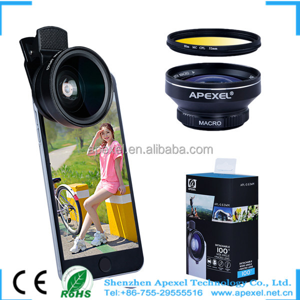 2016 trending mobile selfie lens digital slr external mobie camera wide angle macro lens kit