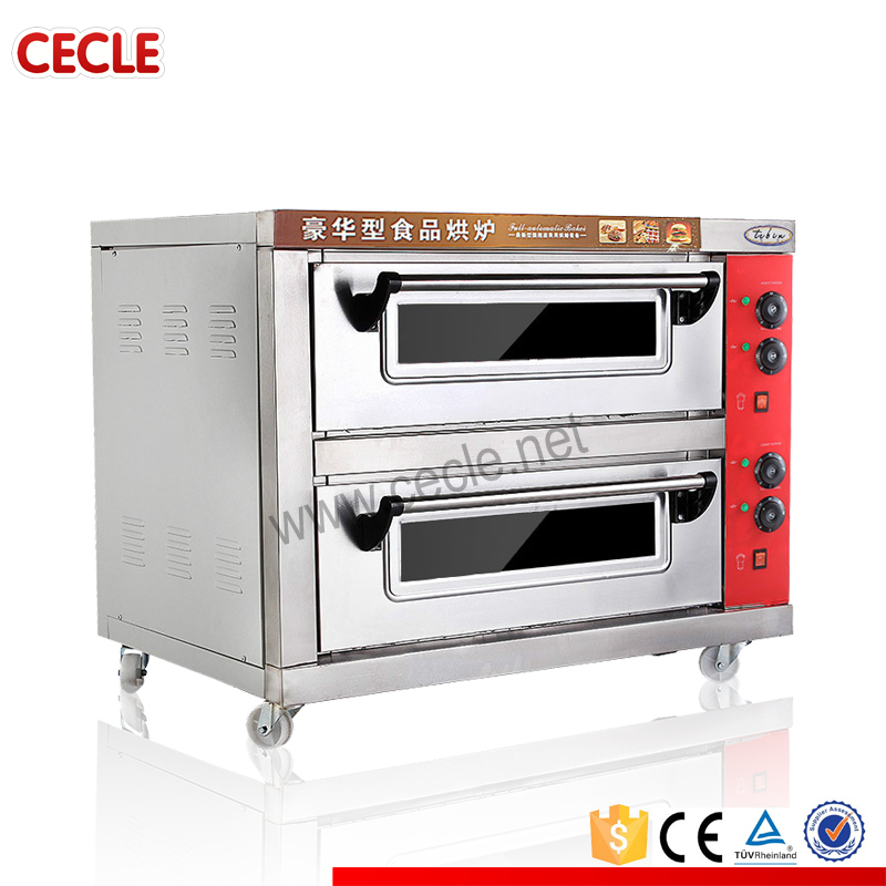 2-deck commercial gas baking pizza oven