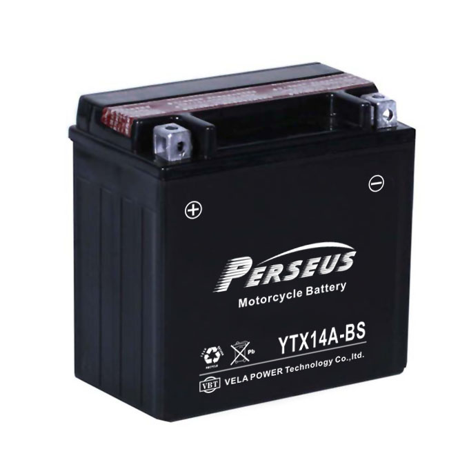 good performance motorcycle battery YTX14A-BS