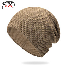 2018 Hot Sell Fashion Winter Hat Women Men Beanie Knitted Warm Cool Caps