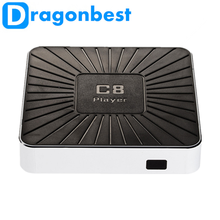 2017 Dragonworth New Brand C8 PLAYER Production1.0 1G 8G tv box x96 made in China ott 7.1